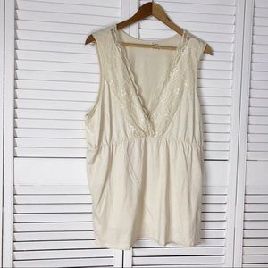 Old Navy Perfect Fit lace trim tank top
